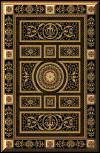 New* BEAUTIFUL  PERSIAN EMPIRE RUG! 8307 BLACK! Empire design is softly colored with light tones. Available Online Only
