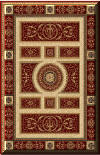 New* BEAUTIFUL  PERSIAN EMPIRE RUG! 8307 RED!  Empire design is softly colored with light tones. Available Online Only